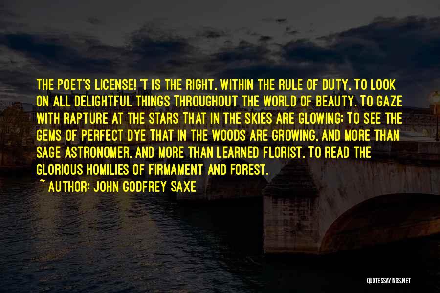 Skies Quotes By John Godfrey Saxe