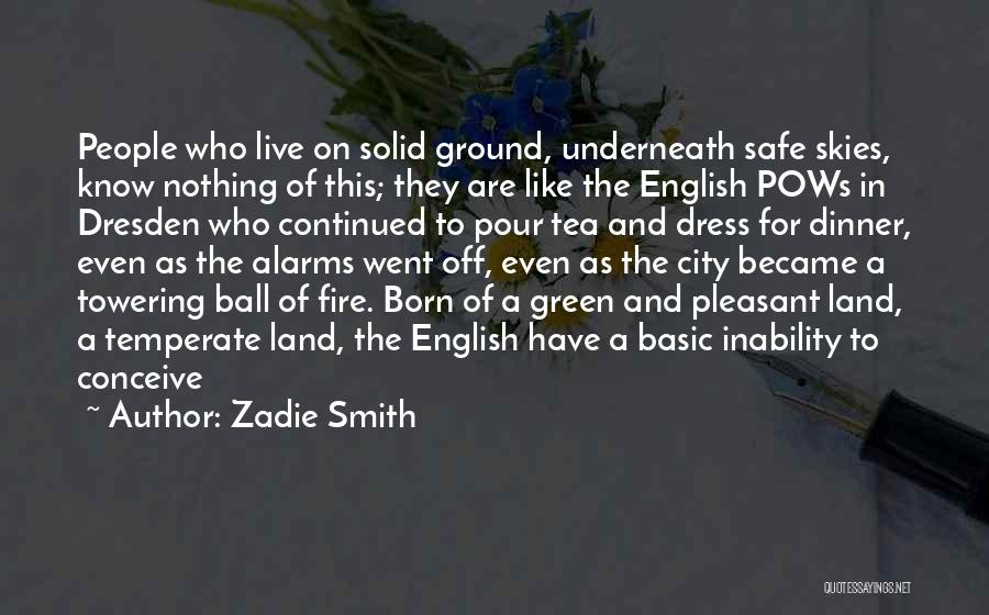 Skies Quotes By Zadie Smith