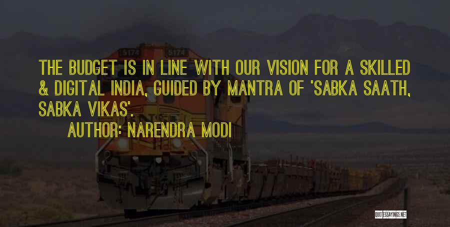 Skilled Quotes By Narendra Modi