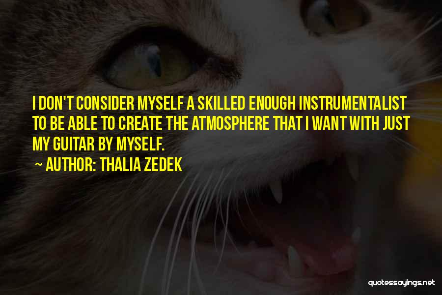Skilled Quotes By Thalia Zedek