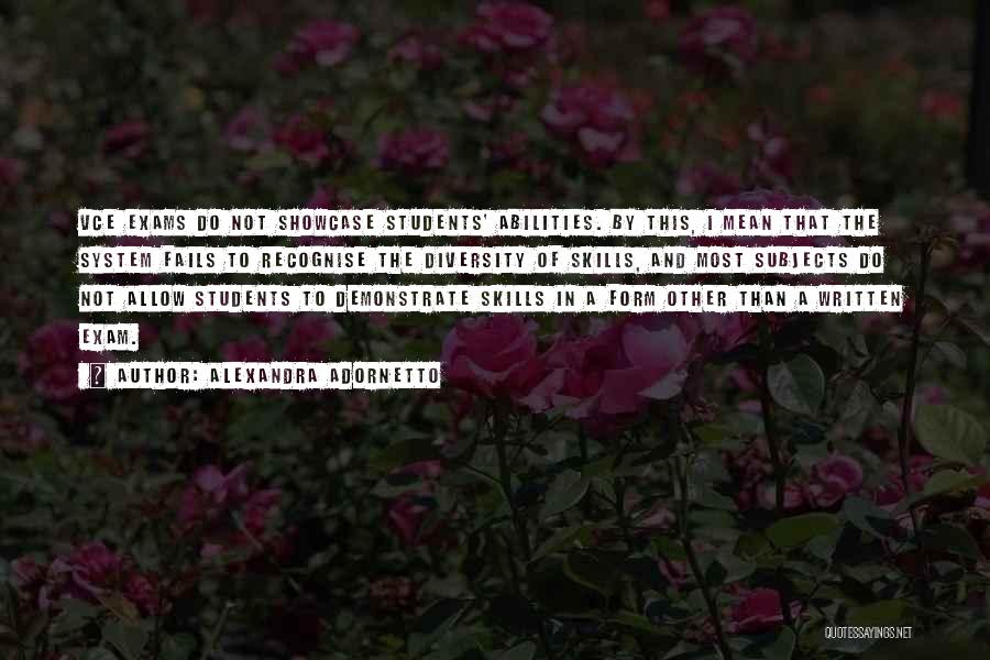 Skills And Abilities Quotes By Alexandra Adornetto