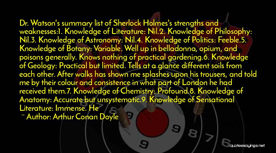 Skills And Abilities Quotes By Arthur Conan Doyle