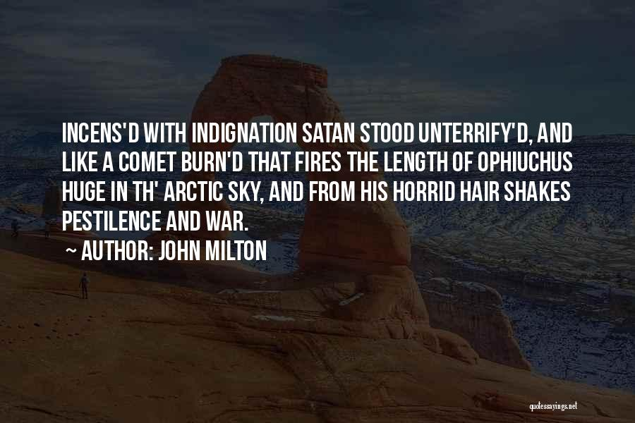 Sky Fire Quotes By John Milton