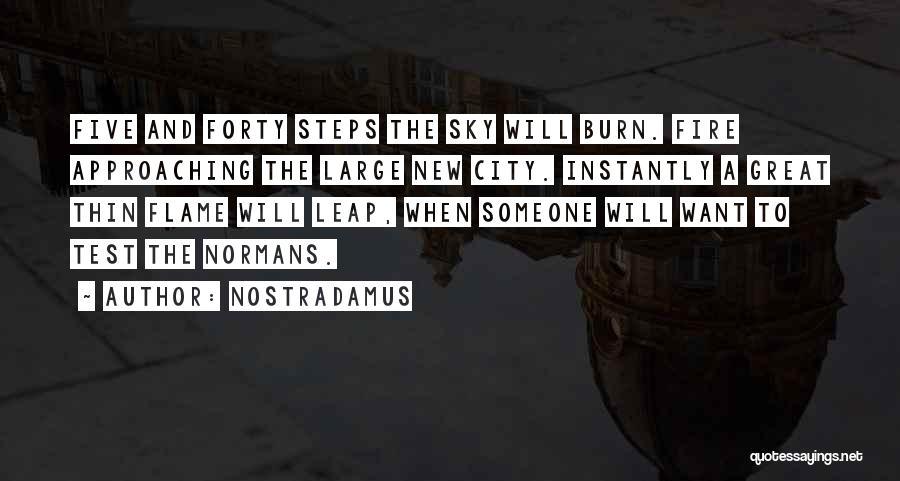 Sky Fire Quotes By Nostradamus