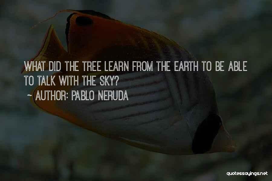 Sky Tree Quotes By Pablo Neruda