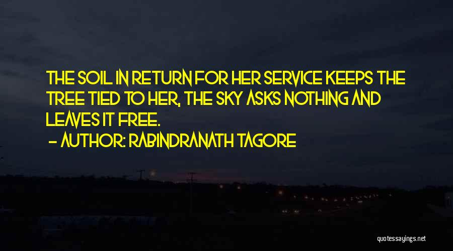 Sky Tree Quotes By Rabindranath Tagore