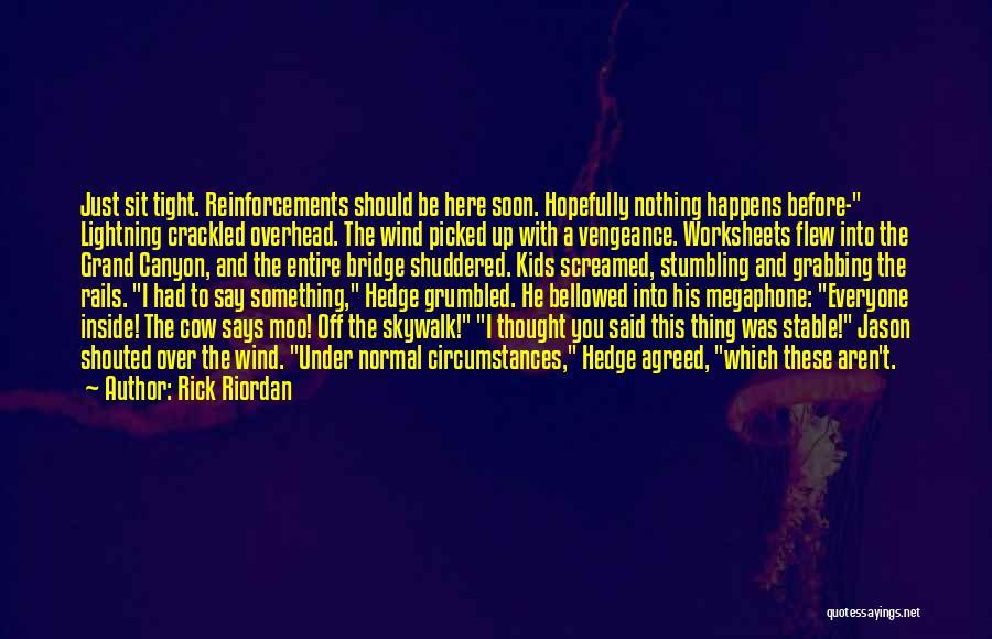 Skywalk Quotes By Rick Riordan