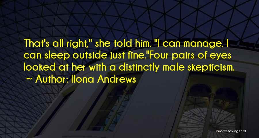 Sleep Funny Quotes By Ilona Andrews