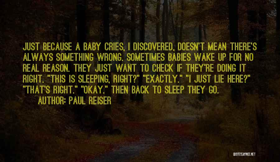 Sleep Funny Quotes By Paul Reiser