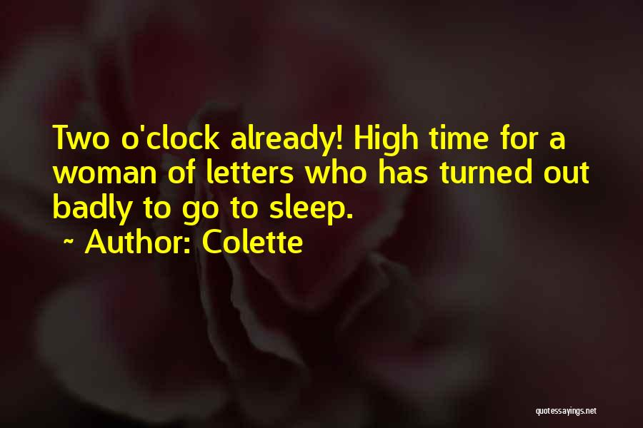 Sleep Time Quotes By Colette