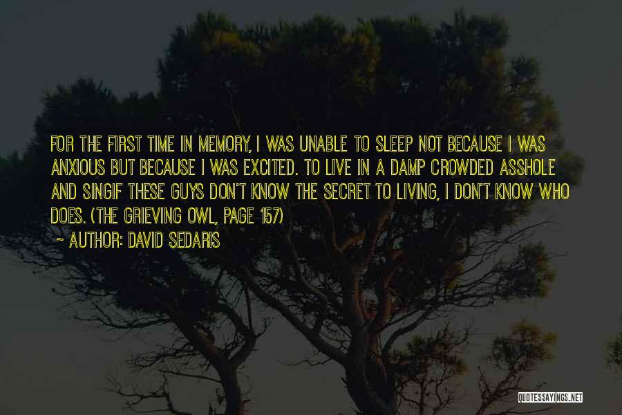 Sleep Time Quotes By David Sedaris