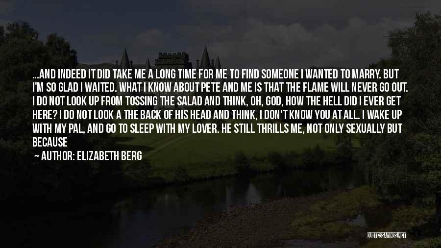 Sleep Time Quotes By Elizabeth Berg
