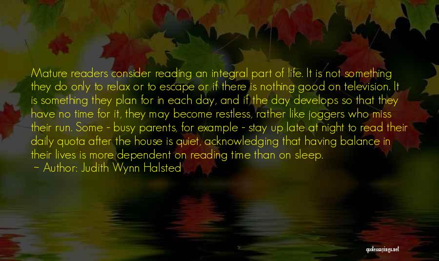 Sleep Time Quotes By Judith Wynn Halsted