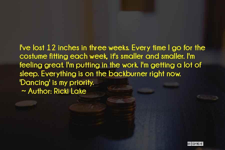 Sleep Time Quotes By Ricki Lake