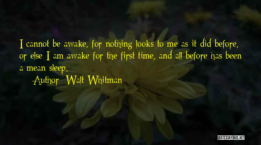 Sleep Time Quotes By Walt Whitman