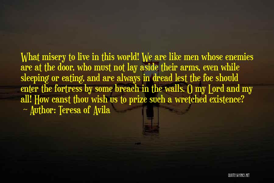Sleeping In My Arms Quotes By Teresa Of Avila