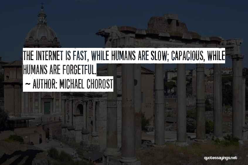 Slow Internet Quotes By Michael Chorost