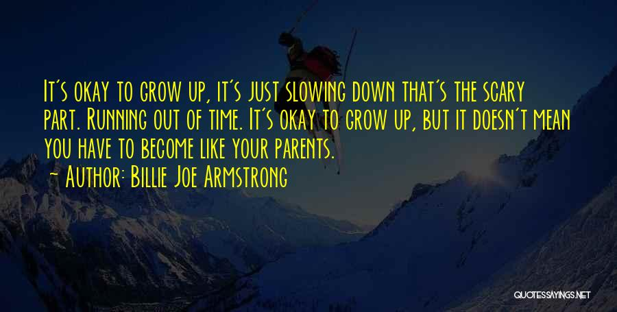 Slowing It Down Quotes By Billie Joe Armstrong