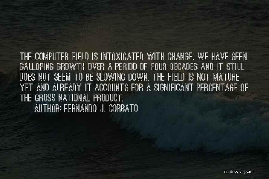 Slowing It Down Quotes By Fernando J. Corbato