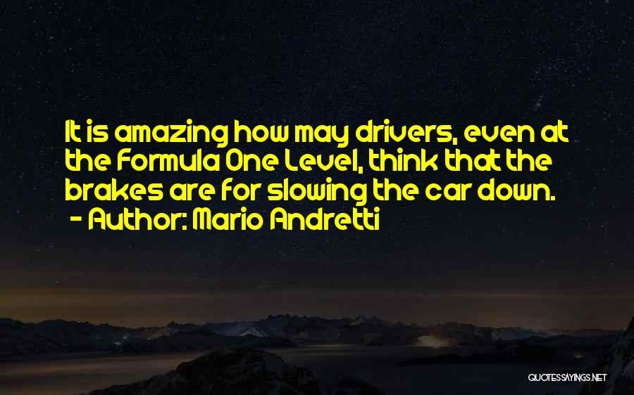 Slowing It Down Quotes By Mario Andretti