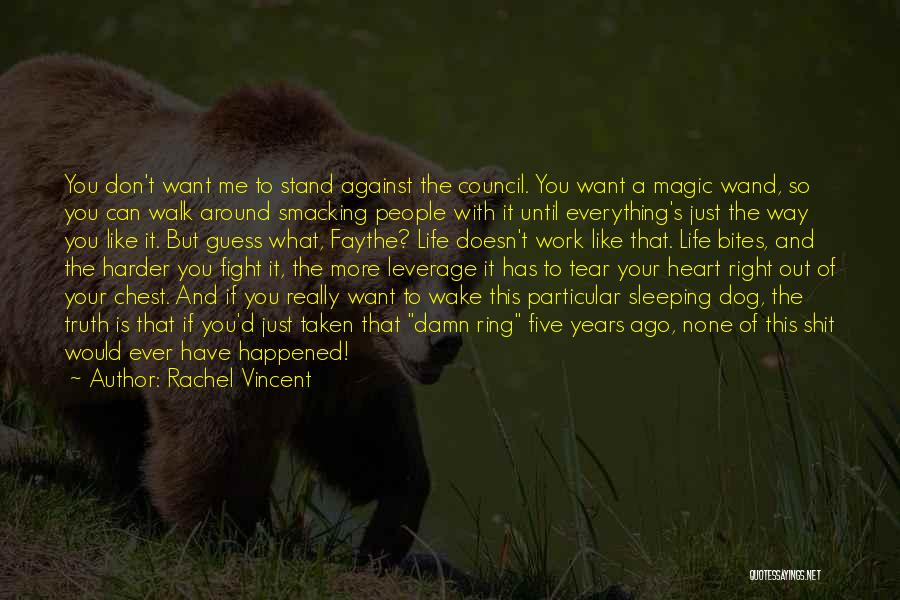 Smacking Someone Quotes By Rachel Vincent