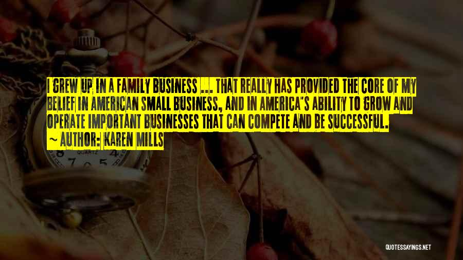 Small Family Business Quotes By Karen Mills
