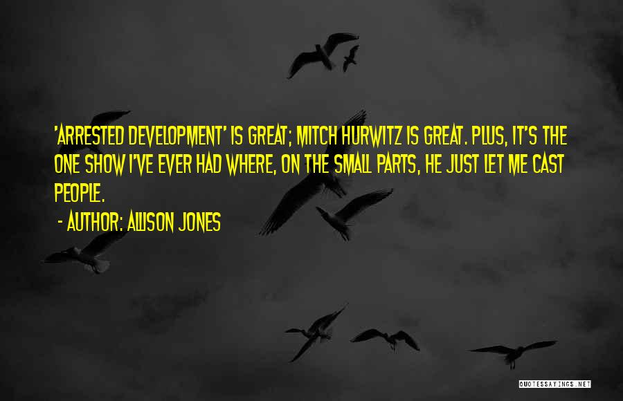 Small Parts Quotes By Allison Jones