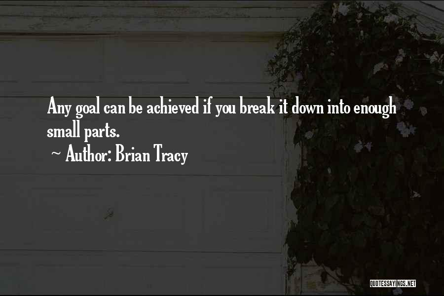 Small Parts Quotes By Brian Tracy