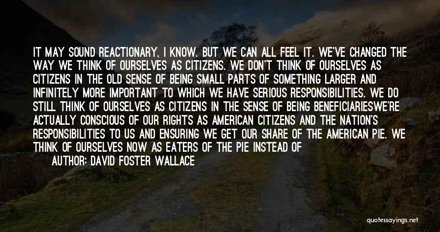 Small Parts Quotes By David Foster Wallace