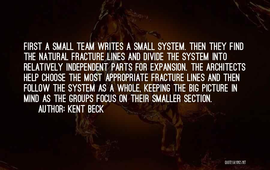 Small Parts Quotes By Kent Beck