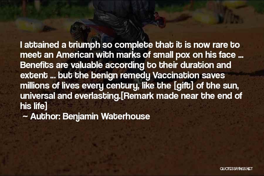 Smallpox Quotes By Benjamin Waterhouse