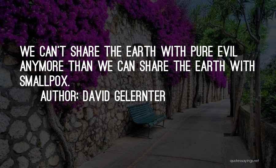 Smallpox Quotes By David Gelernter