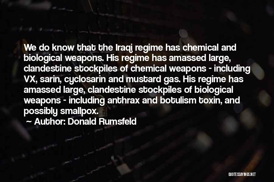 Smallpox Quotes By Donald Rumsfeld