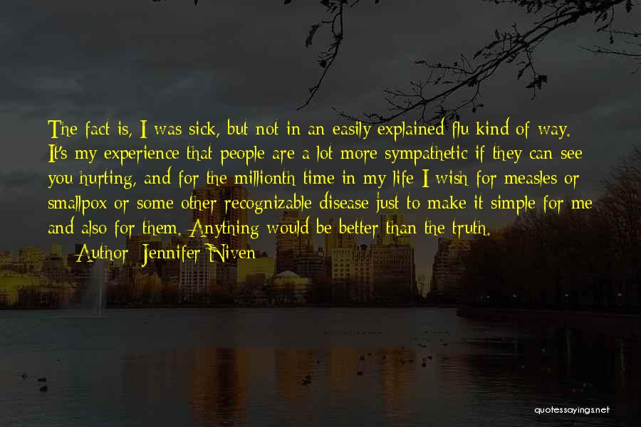 Smallpox Quotes By Jennifer Niven