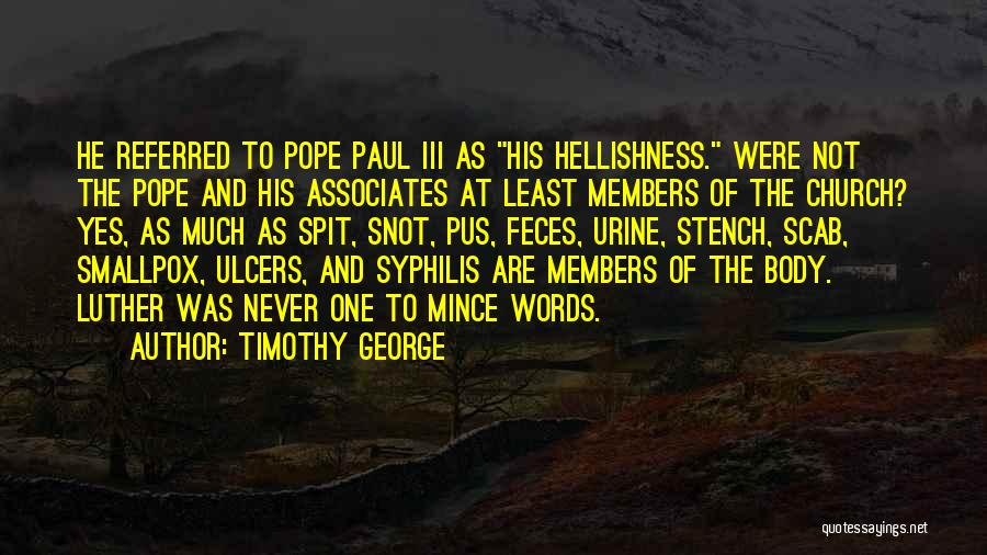 Smallpox Quotes By Timothy George