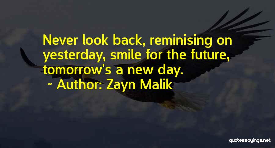 Top 28 Smile And Never Look Back Quotes & Sayings