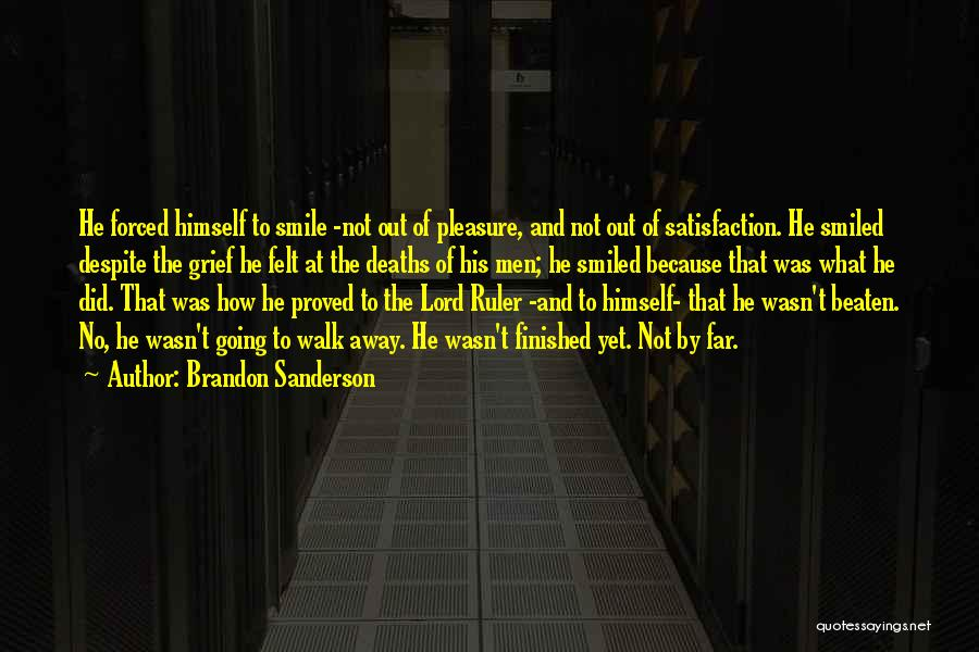 Smile Because Quotes By Brandon Sanderson