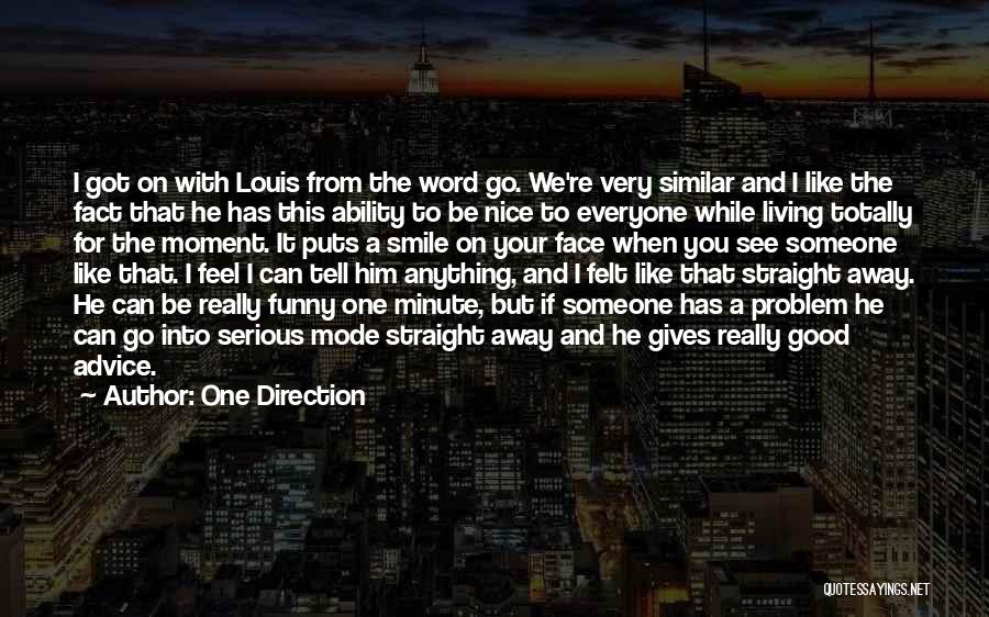 Smile Him Quotes By One Direction