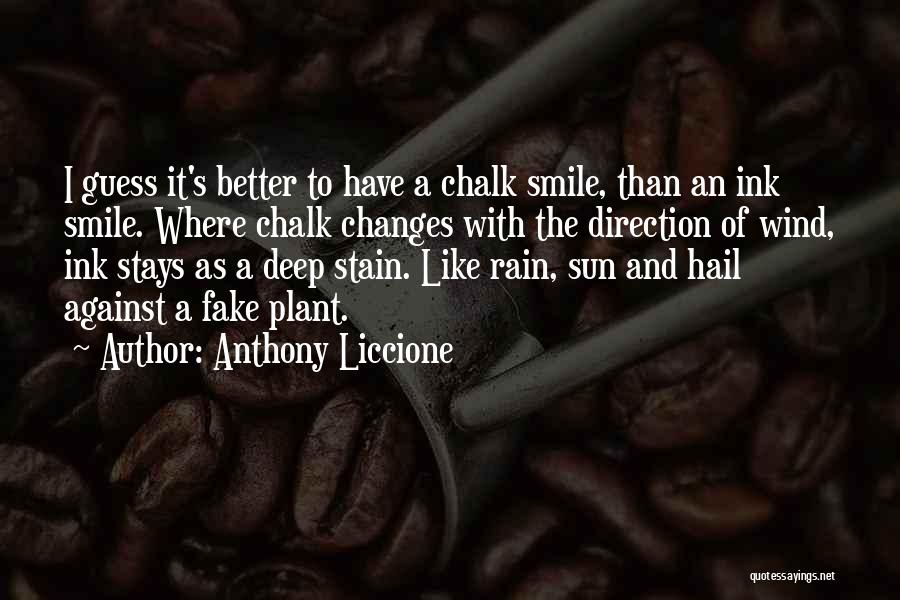 Smile To Hide The Pain Quotes By Anthony Liccione