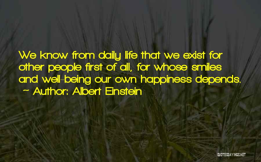 Smiles And Happiness Quotes By Albert Einstein
