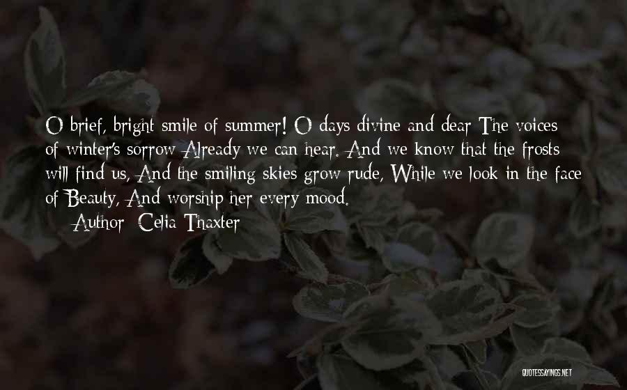Smiling And Beauty Quotes By Celia Thaxter