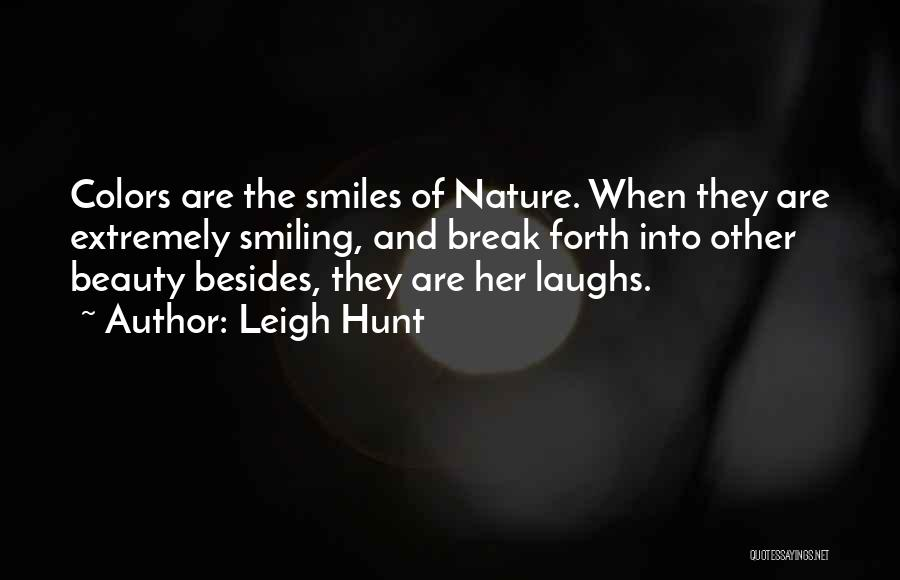 Smiling And Beauty Quotes By Leigh Hunt