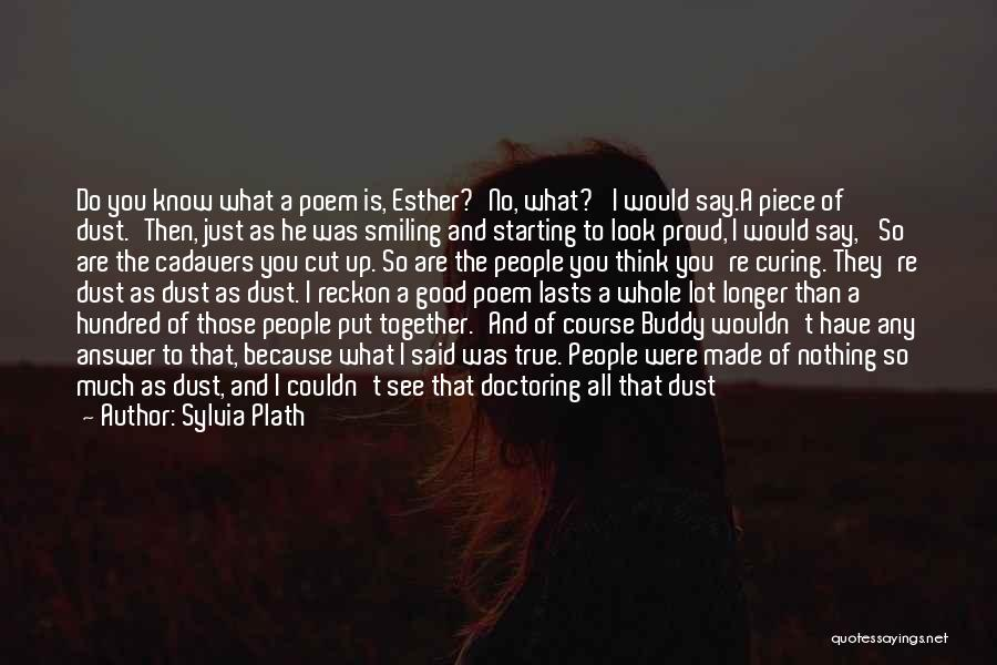 Smiling Because Of You Quotes By Sylvia Plath