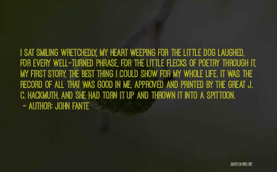 Smiling Best Quotes By John Fante