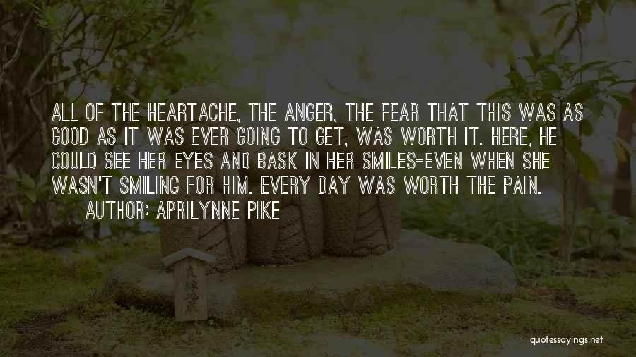 Smiling Even In Pain Quotes By Aprilynne Pike