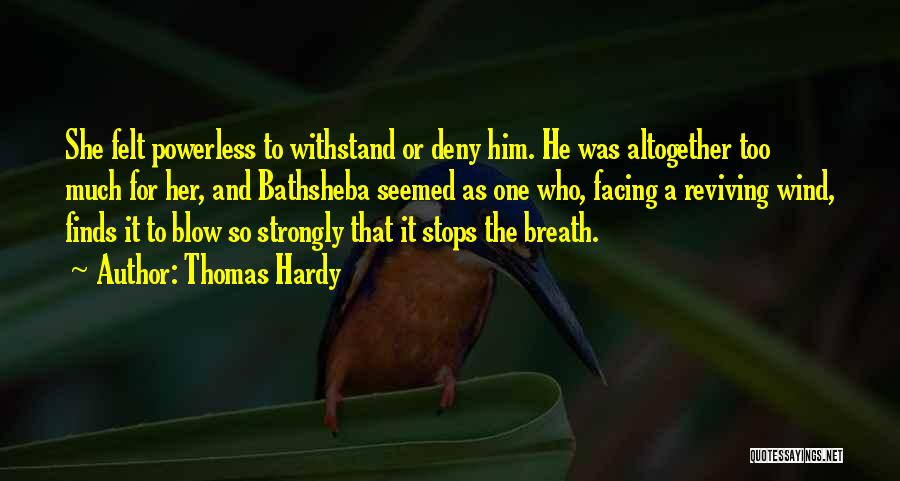 Smitten Love Quotes By Thomas Hardy