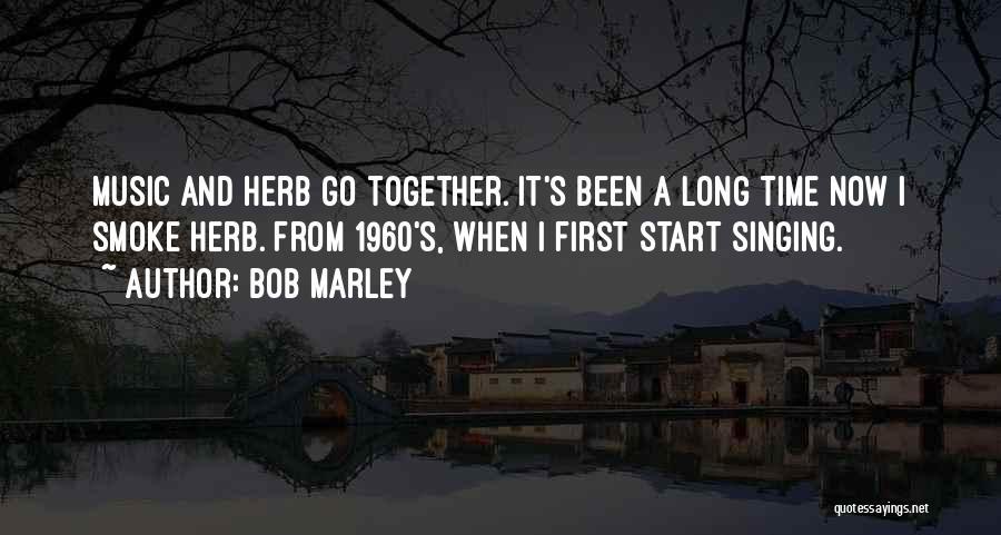 Smoke Weed Quotes By Bob Marley