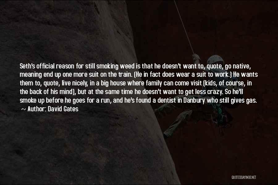 Smoke Weed Quotes By David Gates