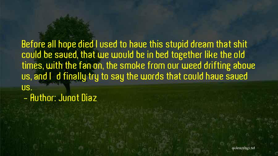 Smoke Weed Quotes By Junot Diaz