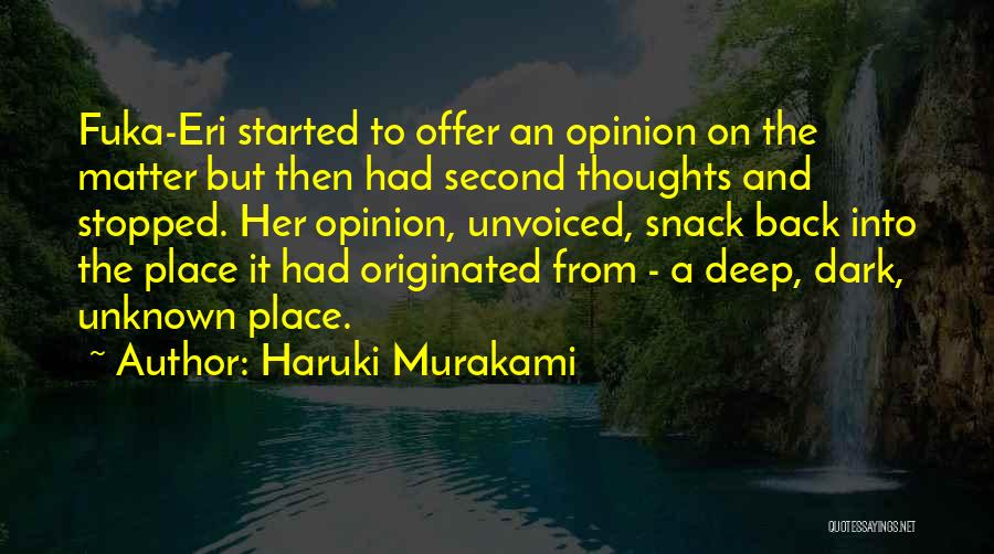 Snack Off Quotes By Haruki Murakami